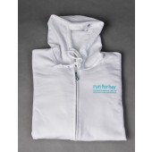 Zip-up Hooded Sweatshirt - White